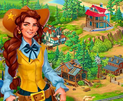 Jewels of the Wild West™: Match 3 Puzzle & City Building Game