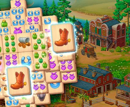Sheriff of Mahjong™: Match tiles & restore a town